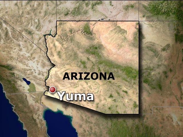 Yuma Arizona Typographical map