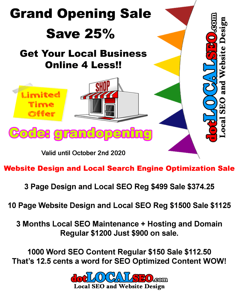 dotLocal SEO Website Design Store Your Best Value! Number 1 In Yuma Arizona USA - Now serving the Global Community. 1