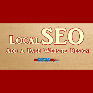 local seo content add a page program