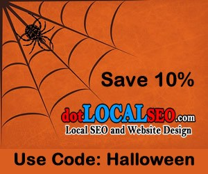 Halloween SEO and Website Design Sale 300x250